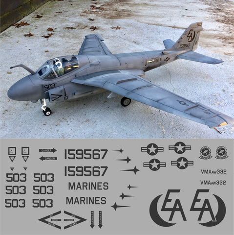 A-6 Intruder VMA-332 Moonlighters Graphics Set