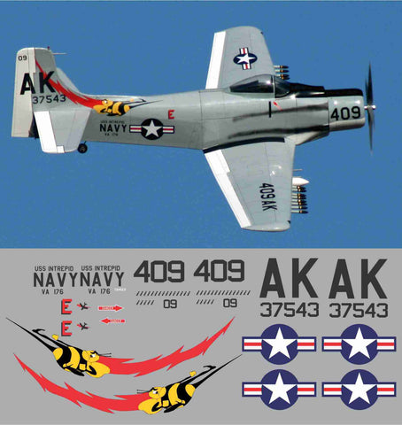 A-1 Skyraider VA-176  409/AK Graphics Set