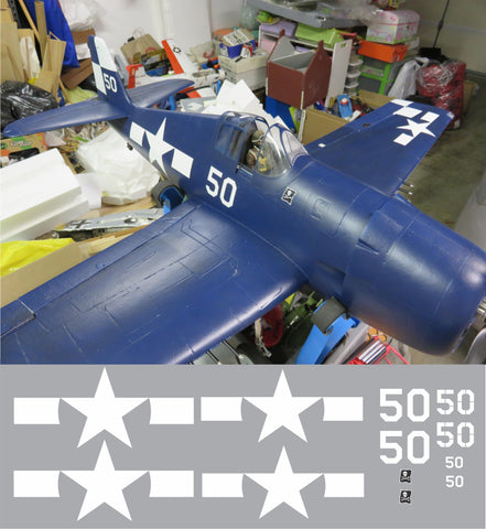 F6F Hellcat White 50 Graphics Set
