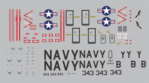 AL37 Navy Screaming Eagles Patron One Graphics Set