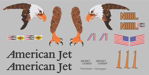 F8F Racer American Jet Graphics Set