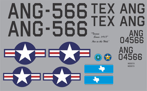 AT-6 Texas ANG Graphics Set