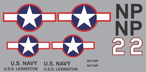 AT-6 Texan USS Lexington Graphics Set