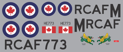 B-24 RCAF Reluctant Dragon Graphics Set