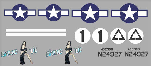 B-24 Diamond Lil Graphics Set