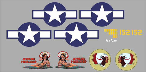 B-25 Apache Princess Graphics Set