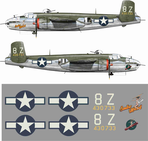 B-25 Sandbar Mitchell Graphics Set