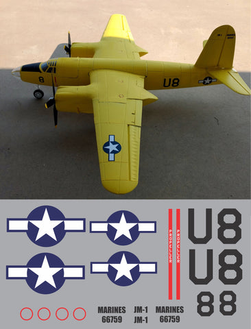 B-26 NAVY #114 Graphics Set