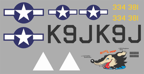 B-26 Willie the Wolf Graphics Set