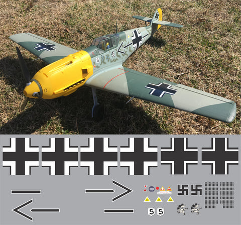 Bf-109 JG 26, Adolf Galland Graphics Set