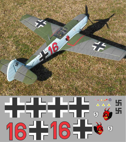 Bf-109 Red 16 JG 26 Graphics Set
