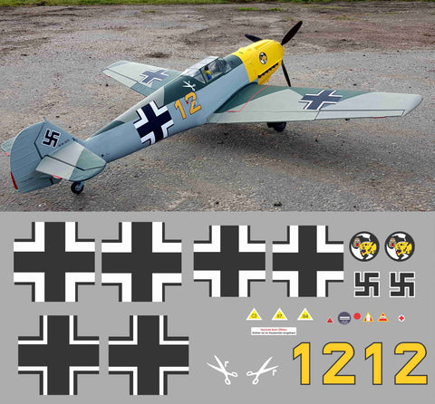 Bf-109 Yellow 12 Graphics Set