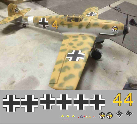 Bf-109 Yellow 4 JG 27 Graphics Set