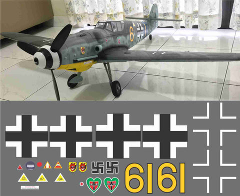 "BF 109 G6 9./JG 54 ""Grünherz"" Yellow 6 Graphics Set"