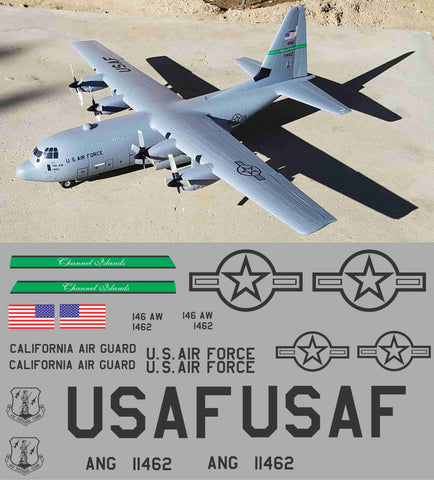 C-130 Gunship Channel Islands California ANG Graphics Set
