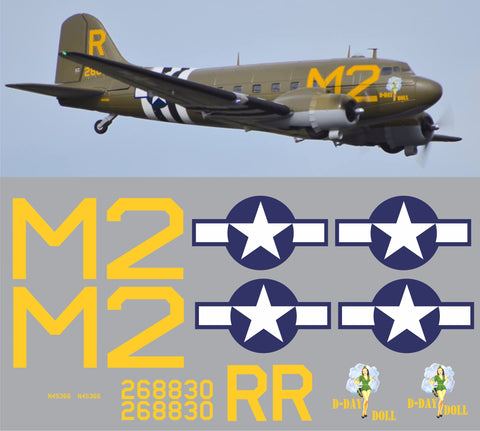 C-47 Skytrain D-Day Doll Graphics Set