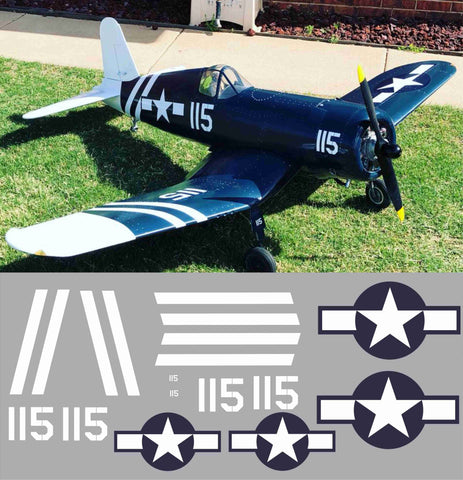 F4U Corsair White #115 Graphics Set
