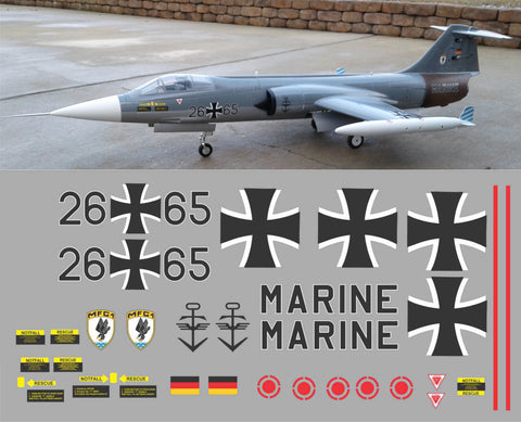 F-104 German Navy 26+65 Graphics Set