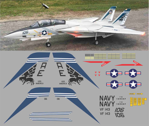 F-14 Tomcat VF-143 Pukin Dogs Graphics Set