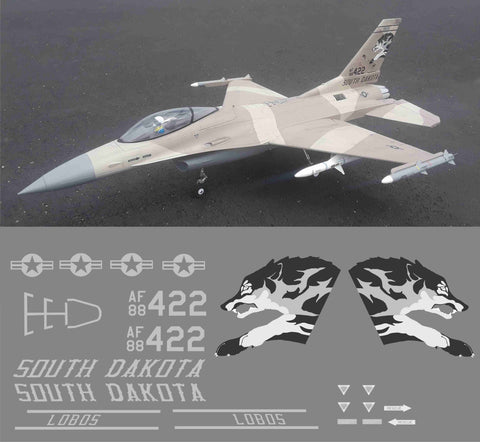 F-16 South Dakota Lobos Graphics Set