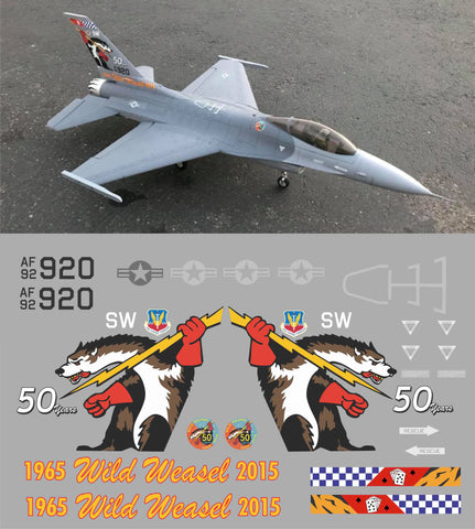 F-16 Wild Weasels 50 Years Graphics Set