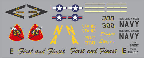 F-18 VFA-113 CAG Stingers Graphics Set