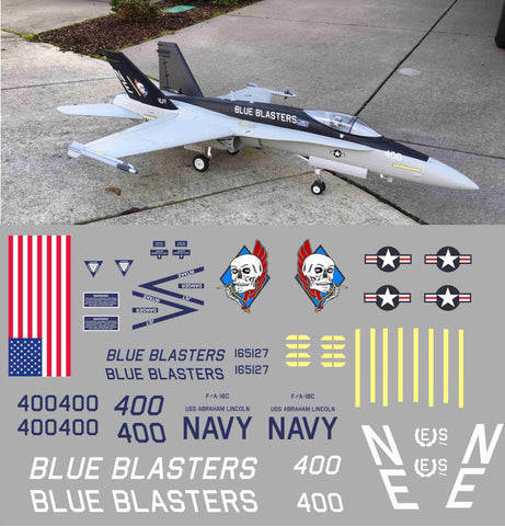 F-18 Blue Blasters Graphics Set
