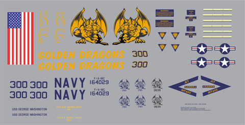 F-18 VFA-192 Golden Dragons Graphics Set