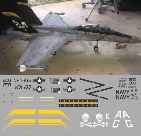 F-18 VFA-103 Jolly Rogers Graphics Set