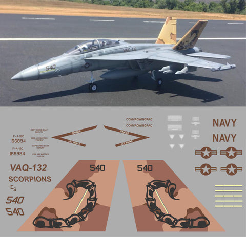 F-18 Super Hornet VAQ-132 Scorpions Graphics Set
