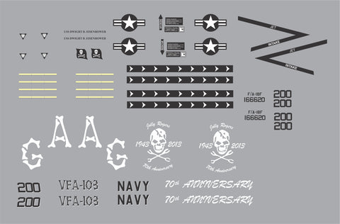 F-18 Jolly Rogers 70th Anniversary Graphics Set