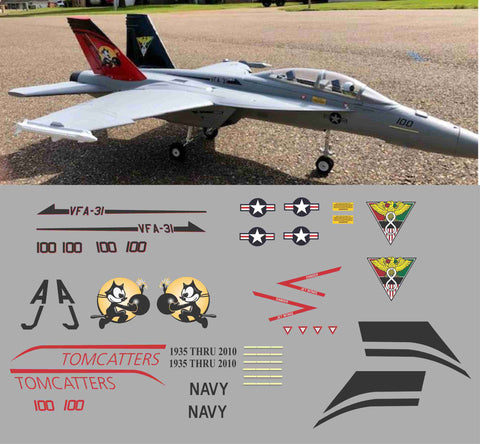 F-18 VFA-31 Tomcatters Graphics Set