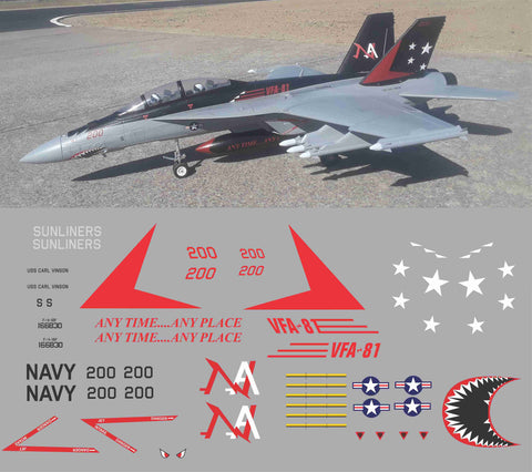 F-18 VFA-81 Sunliners Graphics Set
