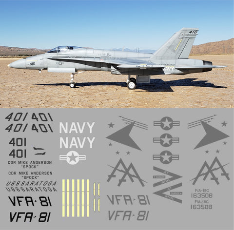 F-18 VFA-81 Low Vis Graphics Set