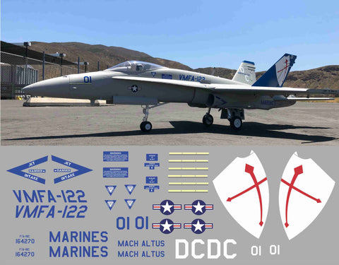 F-18 VMFA-122 Graphics Set