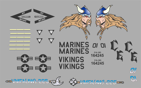 F-18 VMFA(AW)-225 Vikings Graphics Set