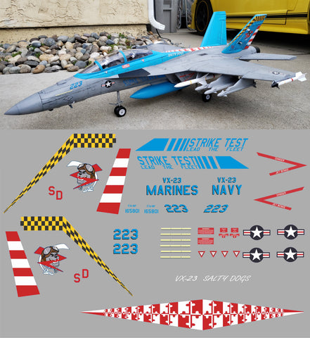 F-18 VX-23 Salty Dog Graphics Set