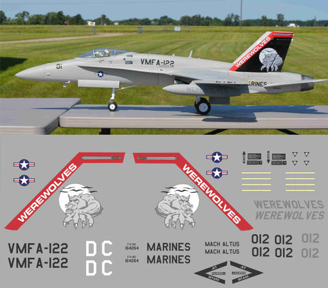 F-18 VMFA-122 Werewolves Graphics Set