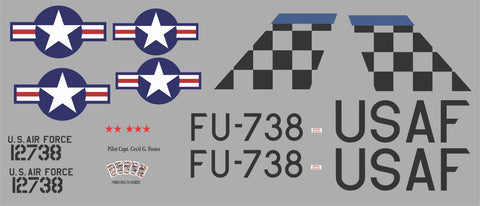F-86 FU-738 Four Kings and a Queen Graphics Set