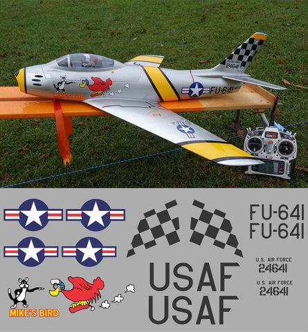 F-86 FU-641 Mikes Bird Graphics Set