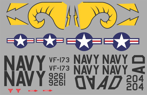 FJ-3 Fury VF-173 Graphics Set