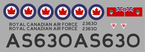 F-86 RCAF AS630 Graphics Set