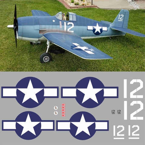 F6F Hellcat White 12 Graphics Set