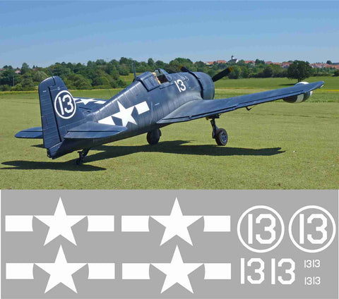 F6F Hellcat White 13 Graphics Set