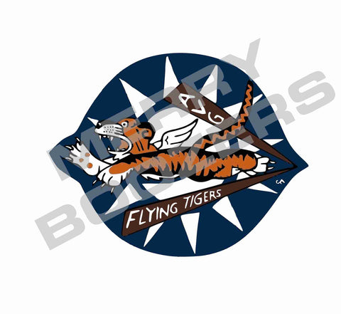Flying Tigers Blue Sticker
