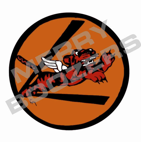 Flying Tigers Orange Sticker