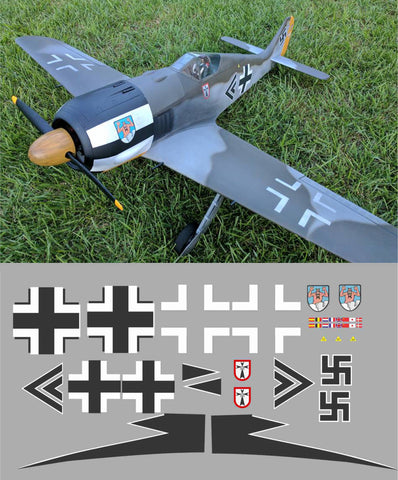 FW-190 Jg1 Black Double Chevron Graphics Set