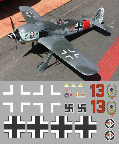 FW-190 Red 13 Graphics Set