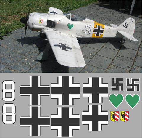 FW-190 White 8 Graphics Set