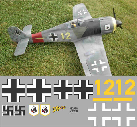 "FW-190 ""Muschi"" Yellow 12 Graphics Set"
